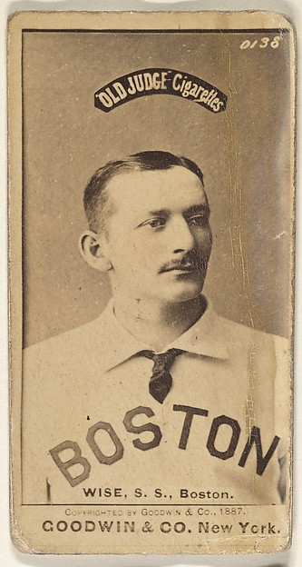 Wise, Shortstop, Boston, from the Old Judge series (N172) for Old Judge Cigarettes