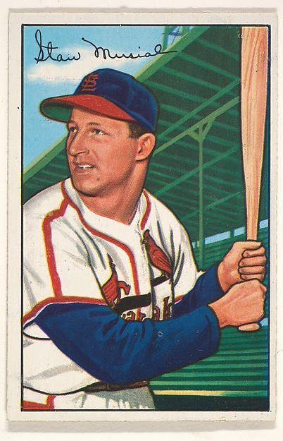 Stan Musial, St. Louis Cardinals, from Picture Cards, series 6 (R406-6) issued by Bowman Gum