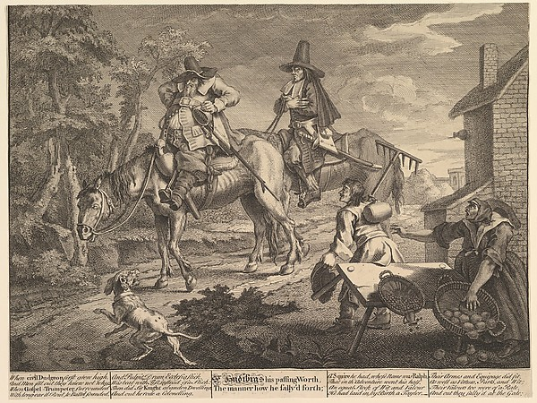 Hudibras Sallying Forth (Twelve Large Illustrations for Samuel Butler's Hudibras, Plate 2)