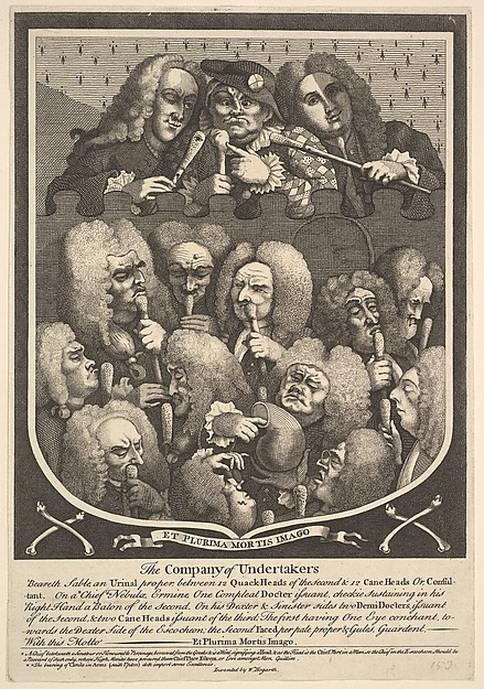 Fascinating Historical Picture of William Hogarth with The Company of Undertakers in 1736