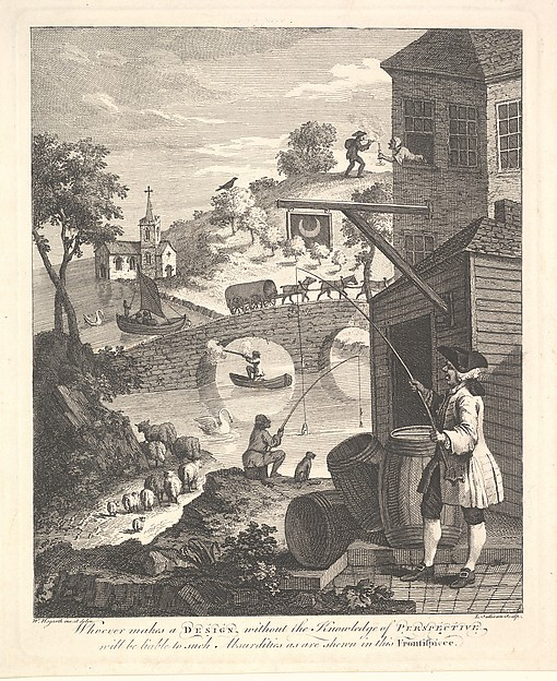 "Satire on False Perspective: Frontispiece to ""Kirby's Perspective"""