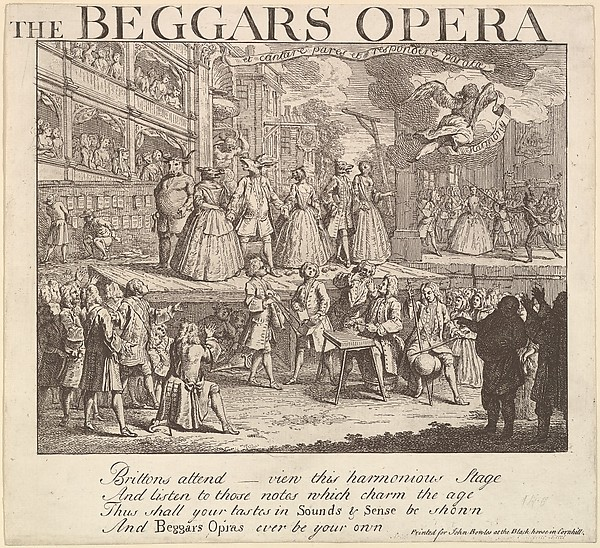 This is What William Hogarth and The Beggars Opera Looked Like  in 1728