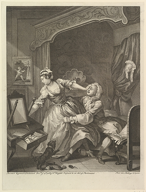 Fascinating Historical Picture of William Hogarth with Before on 12/15/1736