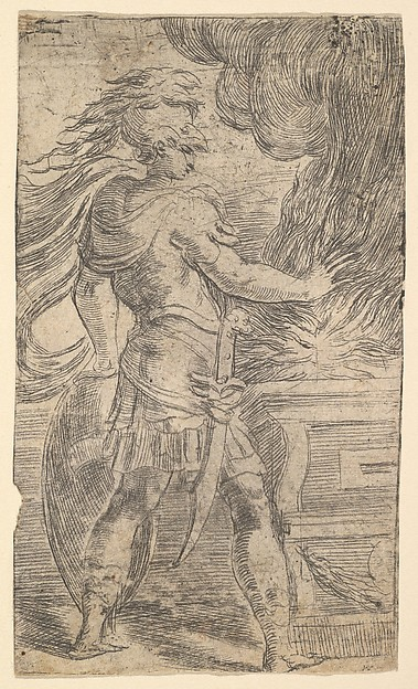 Mutius Scaevola Burning His Hand