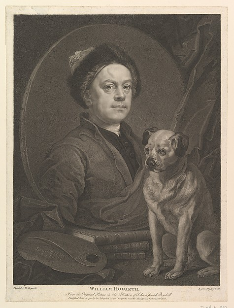 Fascinating Historical Picture of William Hogarth with William Hogarth on 6/4/1795