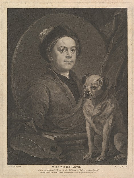 Fascinating Historical Picture of William Hogarth with William Hogarth on 6/7/1795