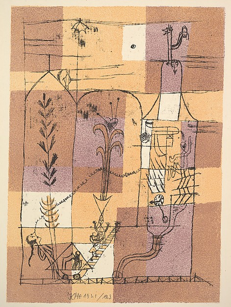 Fascinating Historical Picture of Paul Klee with Hoffmannesque Scene (Hofmanneske Szene) in 1921
