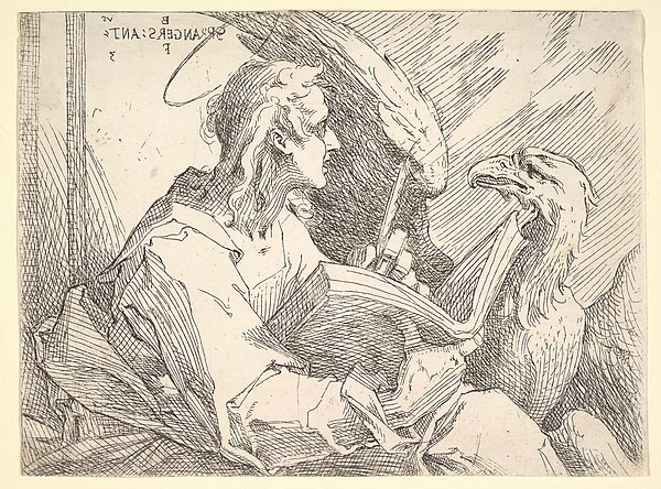 Fascinating Historical Picture of Bartholomeus Spranger with Saint John the Evangelist in 1596