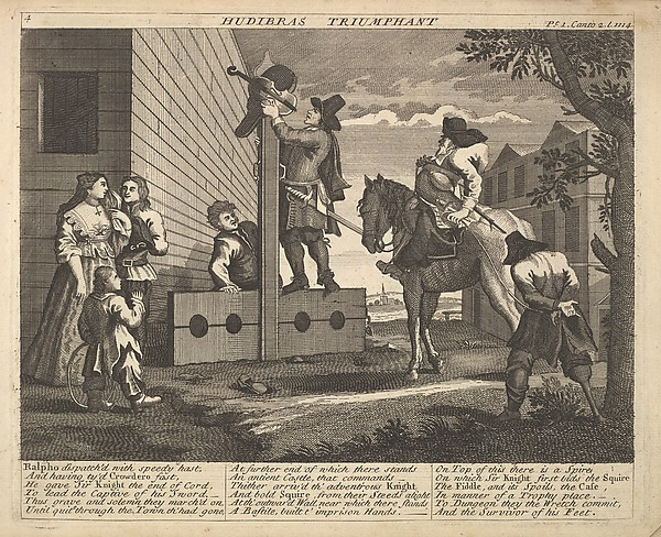 Hudibras Triumphant (Plate 4: Illustrations to Samuel Butler's Hudibras)