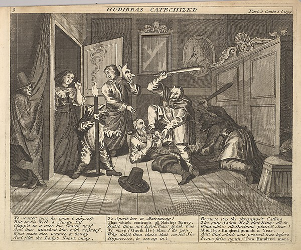 Hudibras Catecized (Plate 9: Illustrations to Samuel Butler's Hudibras)