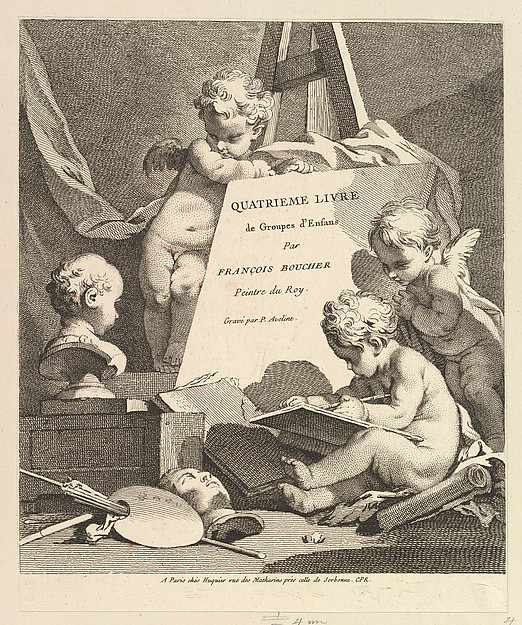 Fascinating Historical Picture of Pierre Alexandre Aveline with Frontispiece in 1727