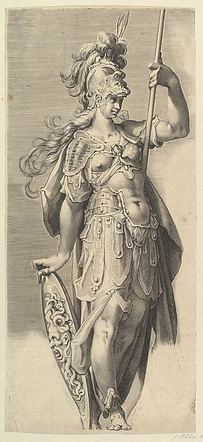 This is What Bartholomeus Spranger and Minerva Looked Like  in 1632