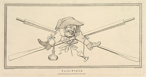 Fascinating Historical Picture of William Hogarth with Tail-Piece on 11/27/1781