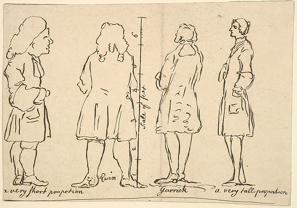 Fascinating Historical Picture of William Hogarth with Sketches of Quin and Garrick on 5/12/1797