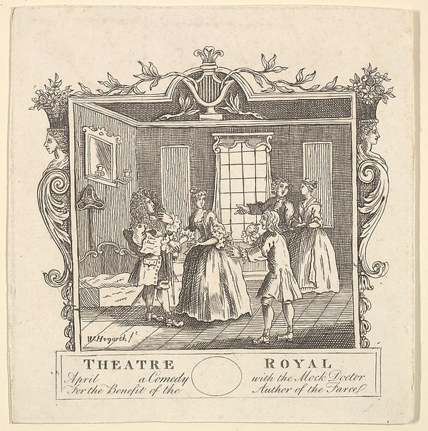 Formerly attributed to William Hogarth   Ticket for Fielding's The ...