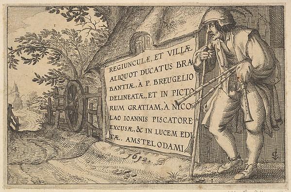 Fascinating Historical Picture of Claes Jansz. Visscher with Title to Regiunculae et Villae Aliquot Ducatus Brabantiae in 1610