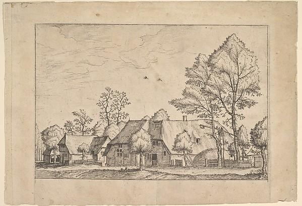 Large Farm with Draw Well from Praediorum villarum et rusticarum casularum icones elenoantissimae ad vivum in apre deformatae