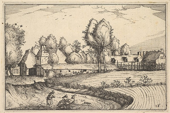 This is What Claes Jansz. Visscher and Road along a Field from Regiunculae et Villae Aliquot Ducatus Brabantiae Looked Like  in 1610