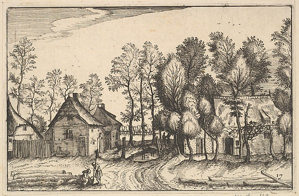 Fascinating Historical Picture of Claes Jansz. Visscher with Landscape with Hewed Trees from Regiunculae et Villae Aliquot Ducatus Brabantiae in 1610