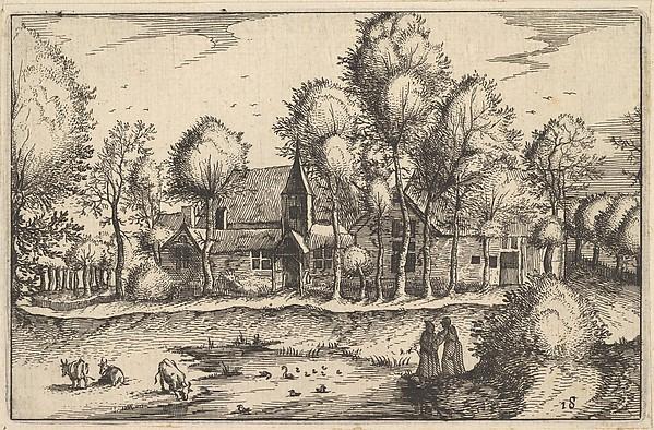 Fascinating Historical Picture of Claes Jansz. Visscher with A Pond from Regiunculae et Villae Aliquot Ducatus Brabantiae in 1610