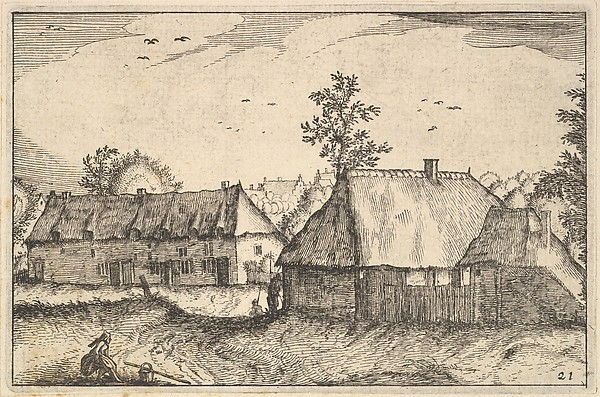 This is What Claes Jansz. Visscher and Large Sheds from Regiunculae et Villae Aliquot Ducatus Brabantiae Looked Like  in 1610