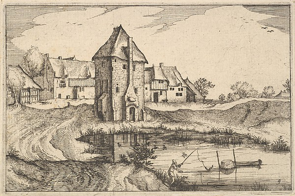 Fascinating Historical Picture of the Small Landscapes with The Pond from Regiunculae et Villae Aliquot Ducatus Brabantiae in 1610