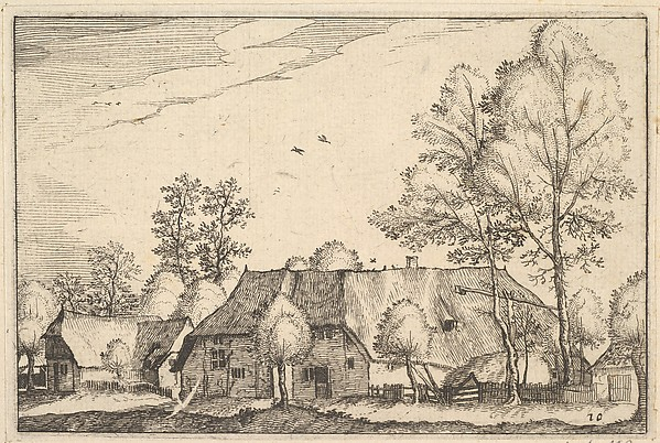 This is What Claes Jansz. Visscher and Large Farm from Regiunculae et Villae Aliquot Ducatus Brabantiae Looked Like  in 1610