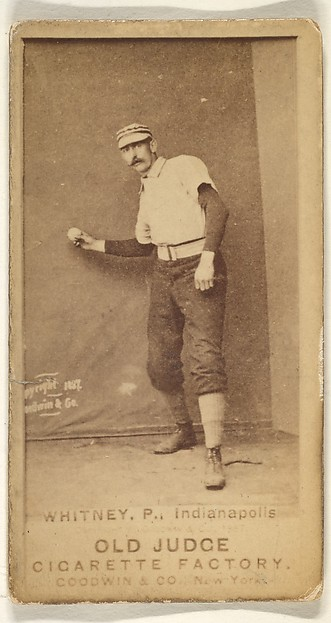 Whitney, Pitcher, Indianapolis, from the Old Judge series (N172) for Old Judge Cigarettes