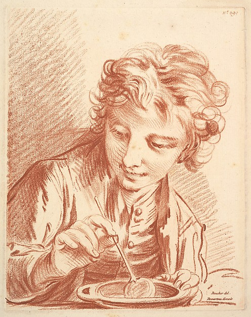 Fascinating Historical Picture of Gilles Demarteau with The Soap Bubble in 1756