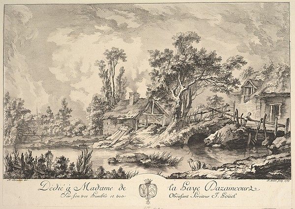 Fascinating Historical Picture of Jean Pierre Louis Laurent Hoel with Landscape in 1759