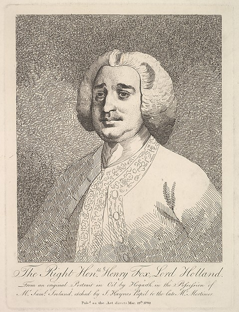 Fascinating Historical Picture of William Hogarth with The Right Honorable Henry Fox Lord Holland on 5/19/1782