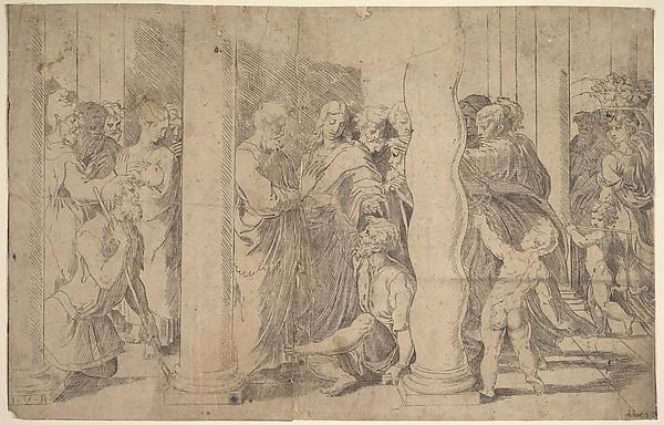 Saints Peter and John healing the Sick