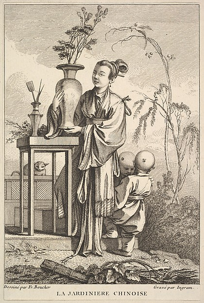 This is What John Ingram and The Chinese Gardener Looked Like  in 1741