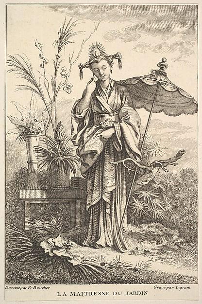 Fascinating Historical Picture of John Ingram with The Master Gardener in 1741