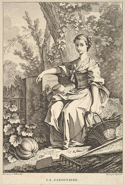 Fascinating Historical Picture of Franois Boucher with The Gardener in 1741