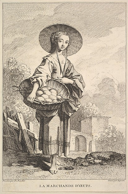Fascinating Historical Picture of John Ingram with The Egg Merchant in 1741
