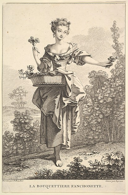 Fascinating Historical Picture of John Ingram with The Flower Girl Fanchonette in 1741