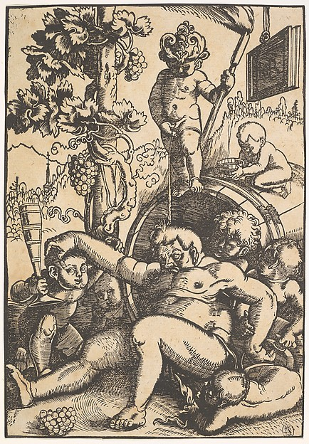 Fascinating Historical Picture of Hans Baldung with The Drunk Bacchus in 1510