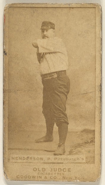 """James Harding """"Hardie"""" Henderson, Pitcher, Pittsburgh, from the Old Judge series (N172) for Old Judge Cigarettes"""
