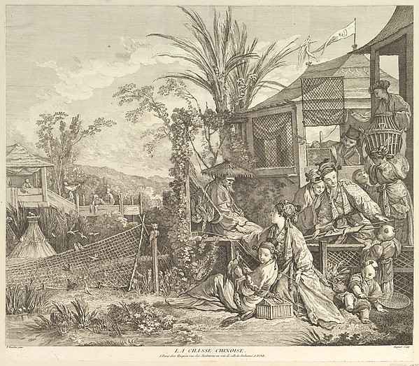 La Chasse Chinoise (The Chinese Hunt), from Chinoiseries
