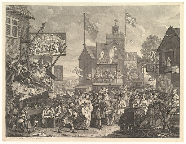 Fascinating Historical Picture of William Hogarth with Southwark Fair in 1734