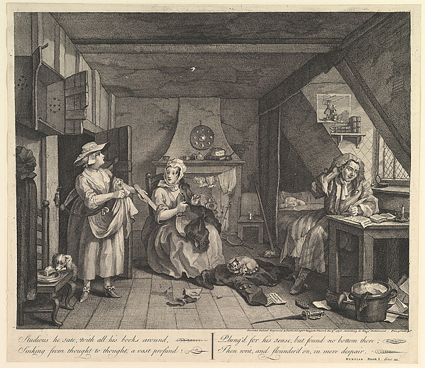 This is What William Hogarth and The Distrest Poet Looked Like  on 3/3/1737