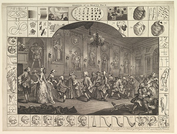 Fascinating Historical Picture of William Hogarth with Analysis of Beauty Plate 2 on 3/5/1753