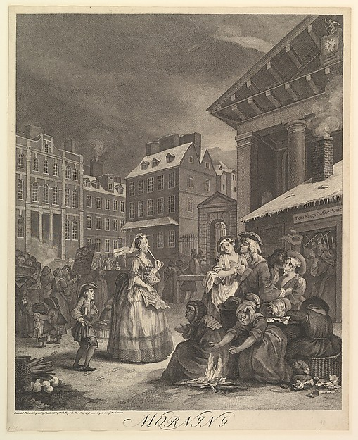 Fascinating Historical Picture of William Hogarth with Morning| The Four Times of the Day on 3/25/1738