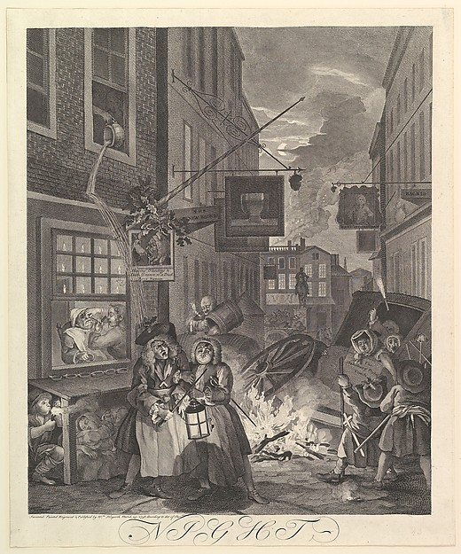 Fascinating Historical Picture of William Hogarth with Night| The Four Times of Day on 3/25/1738