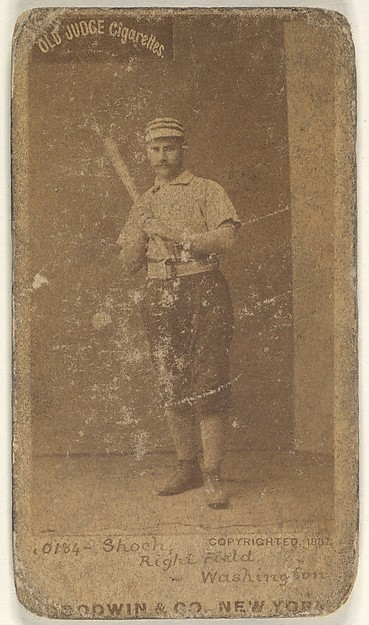 George Quintus Shoch, Right Field, Washington Nationals, from the Old Judge series (N172) for Old Judge Cigarettes