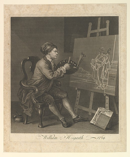 Fascinating Historical Picture of William Hogarth with William Hogarth Serjeant Painter to His Majesty in 1764