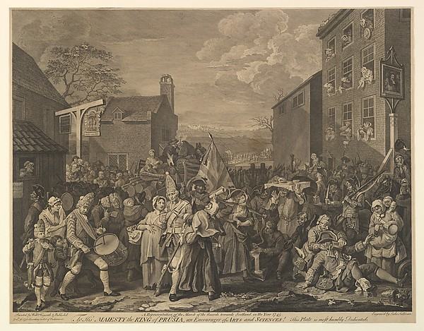 Fascinating Historical Picture of after William Hogarth with The March to Finchley (A Representation of the March of the Guards towards Scotland in the Year 1745 on 12/31/1750