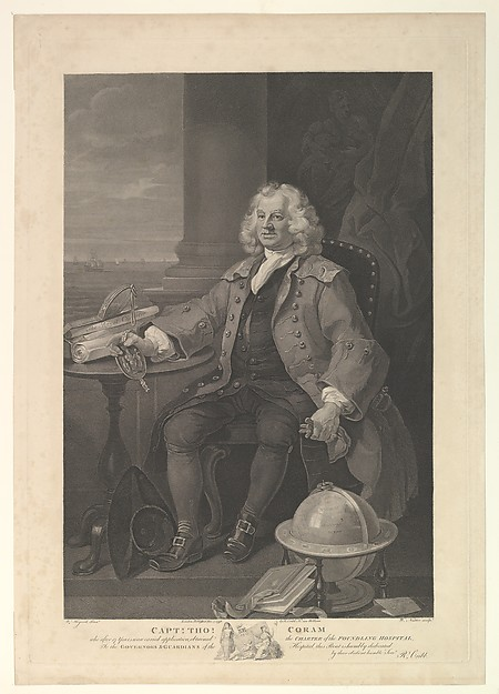 Fascinating Historical Picture of William Hogarth with Captain Thomas Coram on 12/1/1796