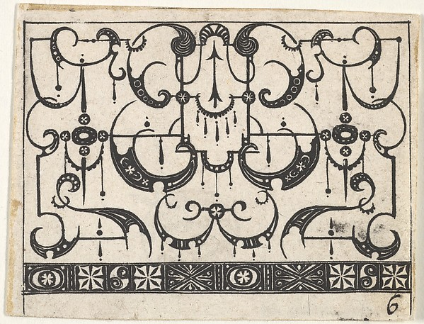 Fascinating Historical Picture of  with Blackwork Print with an All-Over Schweifwerk Pattern in 1620